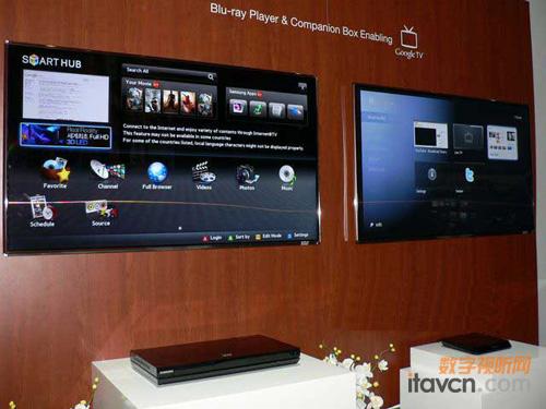 三星google tv真机及机顶盒亮相ces2011