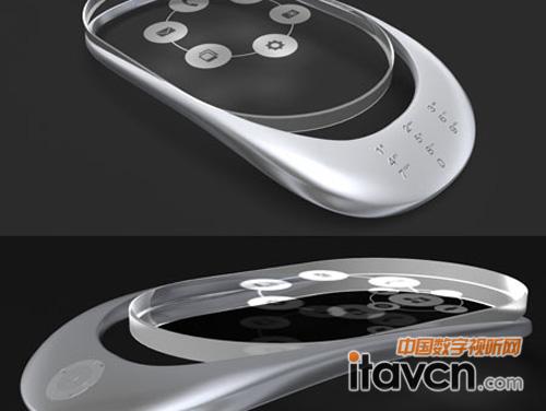 透明触摸屏 3d全息投影概念手机cobalto